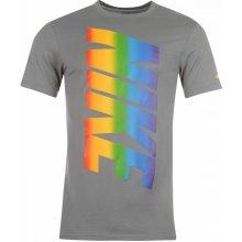 Nike QTT Rainbow Top Mens Grey Heather