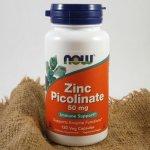 Now Zinc Picolinate zinek pikolinát 50 mg x 120 rostlinných kapslí