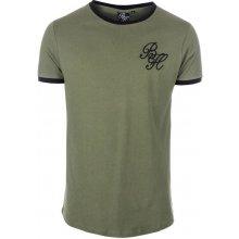 Beck And Hersey Mens Ringer T Shirt Khaki