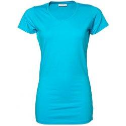 083048393714 Tee Jays Dámské módní extra dlouhé strečové tričko do véčka Tyrkysová