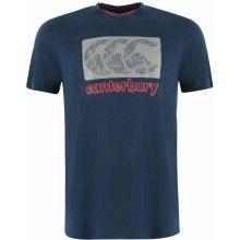 Canterbury Logo T Shirt Mens Blue/Grey