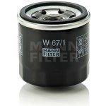 Olejový filtr MANN-FILTER W 67/1