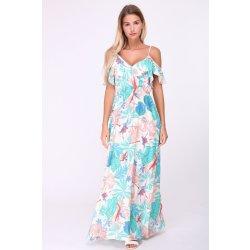 7b486cba321 Specifikace Relax dlouhé letní květované šaty Tropicana barevná ...