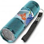 Euroswan Dětská hliníková LED baterka Hledá se Dory Alu 9x2,5 cm