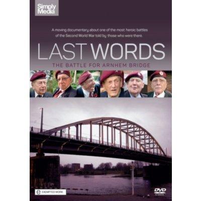 Last Words: The Battle for Arnhem Bridge DVD