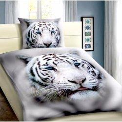 Xpose 3D povlečení Bílý Tygr 140x200 70x90