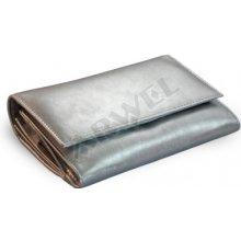 Arwel Dámská kožená psaníčková peněženka 511 2120 s klopnou stříbrná