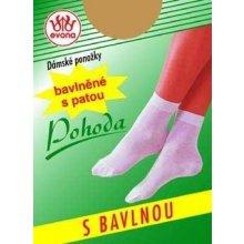 Evona Bavlněné ponožky POHODA bílá 111