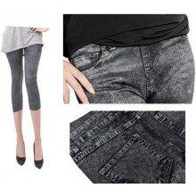 Módní dámské legíny kalhoty sexy jeans černé 5a096e86e6