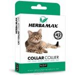 NBP Obojek antiparazitní přírodní kočka Herba Max - 42 cm