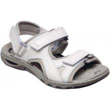 Sante zdravotní obuv Dámské kožené bílé letní sportovní sandály na nízkém  klínku zdravotně tvarované SANTÉ  c255dbceb61