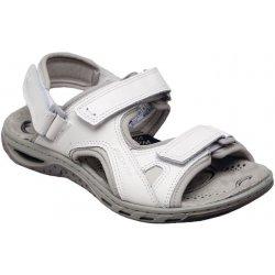 a19cd2328070 Sante zdravotní obuv Dámské kožené bílé letní sportovní sandály na m klínku  zdravotně tvarované SANTÉ