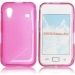 Pouzdro ForCell Lux S Samsung Galaxy Ace S5830 růžové