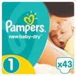 Pampers Active Baby-Dry 1 Newborn 2-5 kg 43 ks