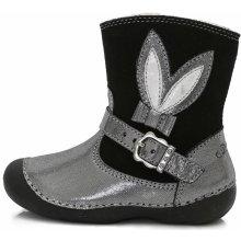 DD Step holčičí zimní kozačky 015-158B stříbrno-šedé e1af680bed