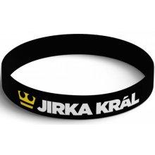 Černý silikonový náramek Jirka Král 75217