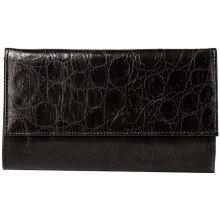 velká dámská černá kožená peněženka 20-0291-3604 Galko