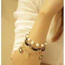 HGM náramek s přívěsky a perlami 153372409