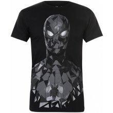 Character Marvel T Shirt Mens B/W Spiderman