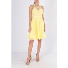 PINK společenské šaty Lisa žlutá d88cc0d301