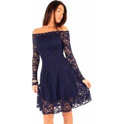 88f3e352526d Společenské krajkové šaty s dlouhým rukávem modrá alternativy ...