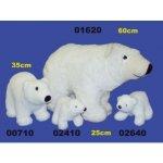 HAMIRO PLUS Plyšový medvěd lední 25 cm 35 cm