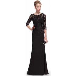Ever Pretty elegantní večerní šaty s tříčtvrtečními rukávy EP09882BK černá 063c7b18b4