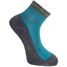 BX-2 FUN bambusové kotníčkové ponožky BAMBOX tm. šedá / indigo