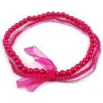 Stoklasa Dětský náhrdelník z korálků 1 růžová sytá