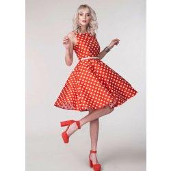 b732cce7fe06 Closet šaty s bílým puntíkem Denisa červená