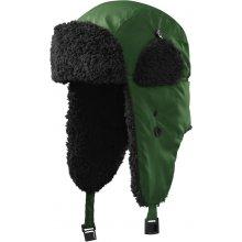 Furry beranice s klapkami na uši lahvově zelená