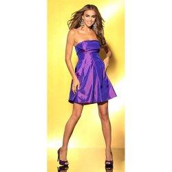 Laura Scott evening taftové koktejlové společenské šaty fialová od ... d6b44bd026