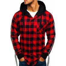 Červená pánská flanelová košile s dlouhým rukávem Bolf 7459 2d2187e81a