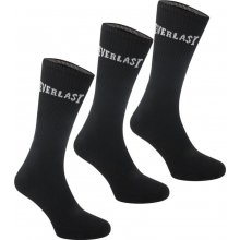 Everlast Crew Socks Black Ladies 3 pack