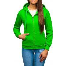 083591f9be5c Světlé zelená dámská mikina s kapucí Bolf W03