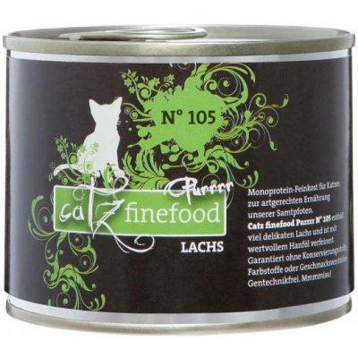 Petnature Catz Finefood Purr No.105 s lososem 190 g