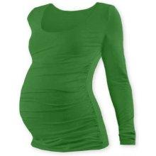 Jožánek Johanka těhotenské triko dlouhý rukáv tmavě zelená