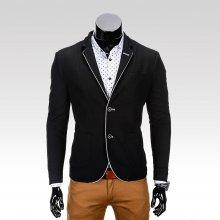 Rocco pánské sako se záplatami na loktech černá