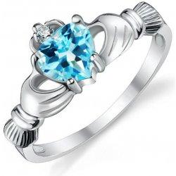 4ae6b6a6d Eppi Stříbrný claddagh prsten s topazem a zirkonem Alim R34422 ...