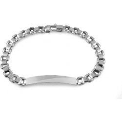 8c83ea744 iZlato Design stříbrný náramek s destičkou Adino IS2614 alternativy ...
