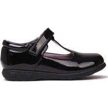 d1d4cfa30b4 Miss Fiori Tara T Bar Shoes Childrens Black Patent