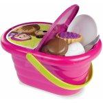 SMOBY 310515 Masha piknikový košík s třpytkami a nádobím + 24 doplňků