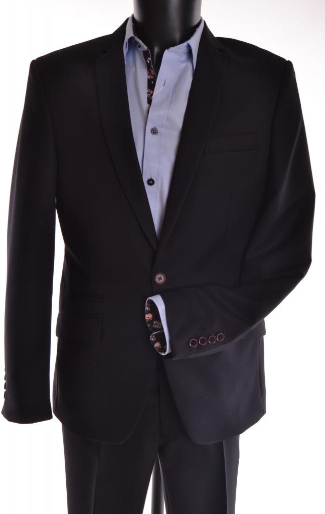 24d084aa7e18 Pánské obleky Pánský oblek s tečkovaným vzorem P10 černá ...