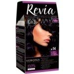 REVIA barva na vlasy 14 BLUE BLACK černo modrá 50 ml + 20 ml + 50 ml