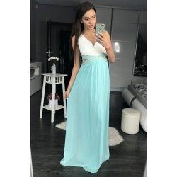 c592cdf75e9b Eva   Lola dámské společenské plesové šaty s průstřihy a perličkami dlouhé  modrá
