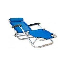 Plážové skládací lehátko - modréPlážové lehátko je ...