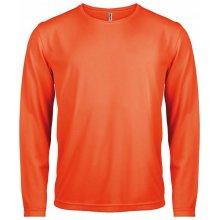 Tričko s dlouhým rukávem Zářivá oranžová