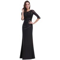 Ever-Pretty elegantní večerní šaty s tříčtvrtečními rukávy EP09882BK černá 6407c15c91
