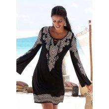 0ff186b8c161 Lascana plážové šaty s potiskem černá
