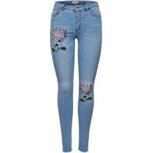 21a80f5d9b4 Only Dámské džíny Carmen Reg Sk Emb Dnm Jeans Bj8908 Medium Blue Denim